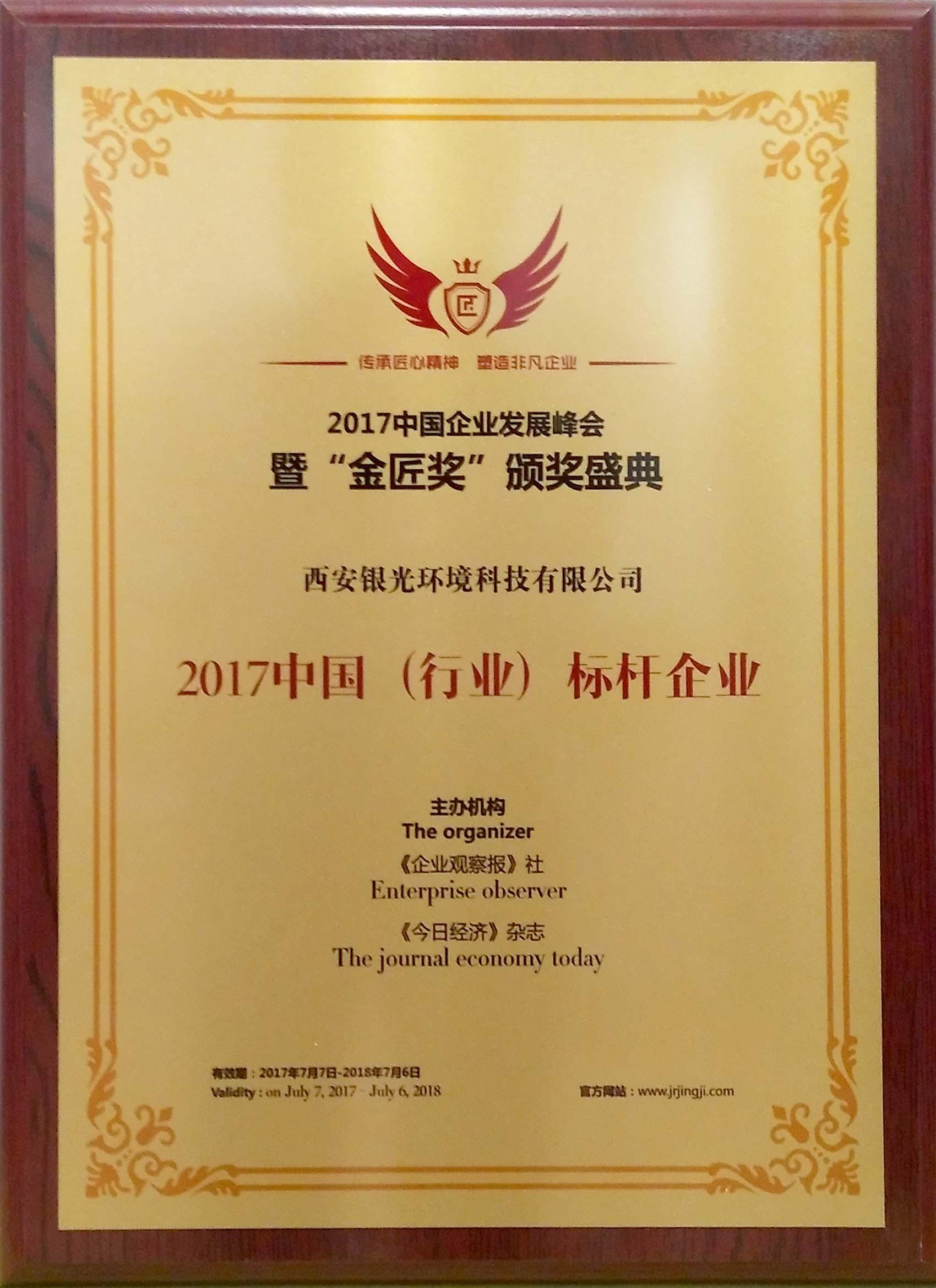 2017中国(行业)标杆企业