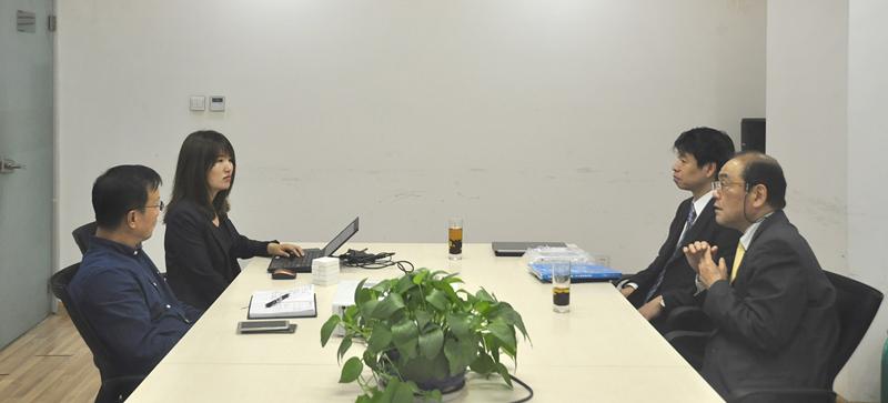 银光环境与日本光明理化学工業株式会社洽谈现场