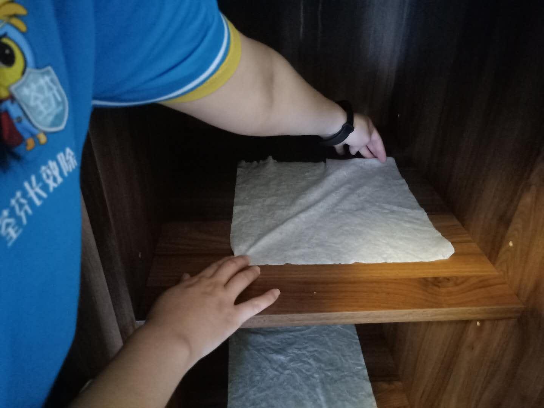 木柜隔档除醛布摆放除甲醛
