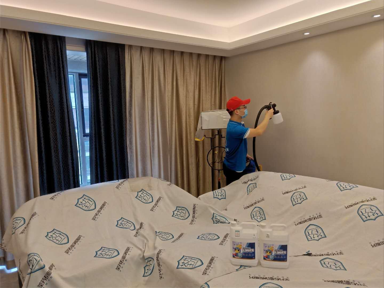 卧室墙面壁纸全方位喷涂治理甲醛