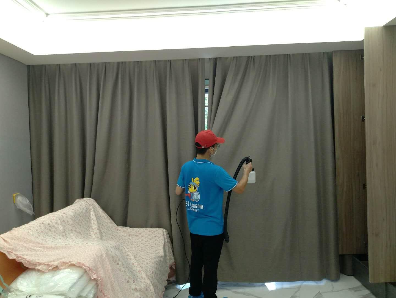 新房除甲醛窗帘施工