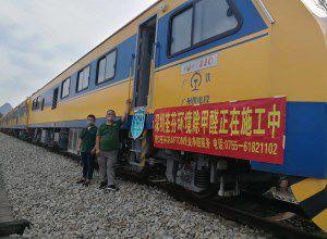 中国中车集团JJC检修列车-深圳站除甲醛施工案例