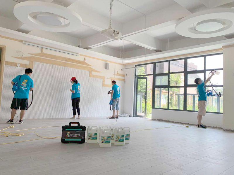汉都新苑第一幼儿园除甲醛施工