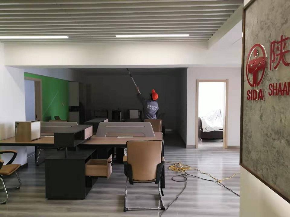 陕西省室内装饰协会荃芬除甲醛施工案例