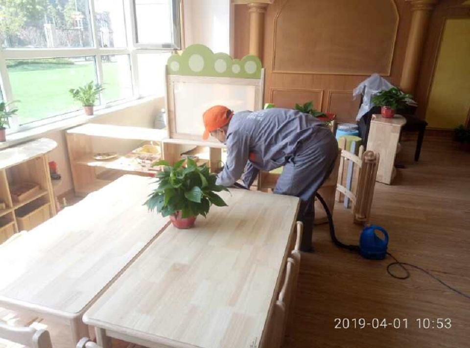 保利心语幼儿园除甲醛施工案例