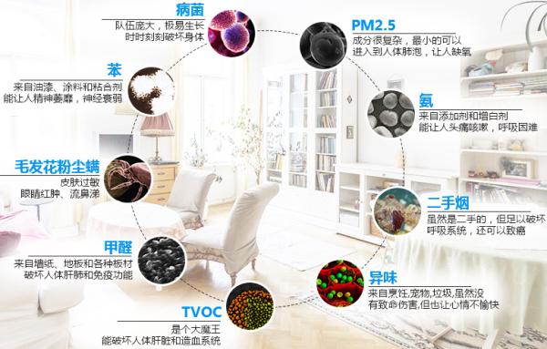 室内污染的主要构成物