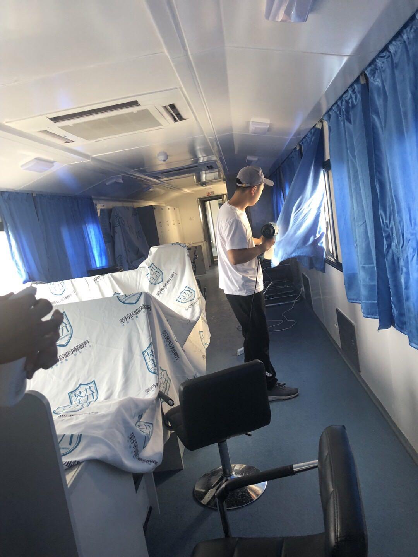 中国中车集团JJC检修列车-哈密站除甲醛施工案例