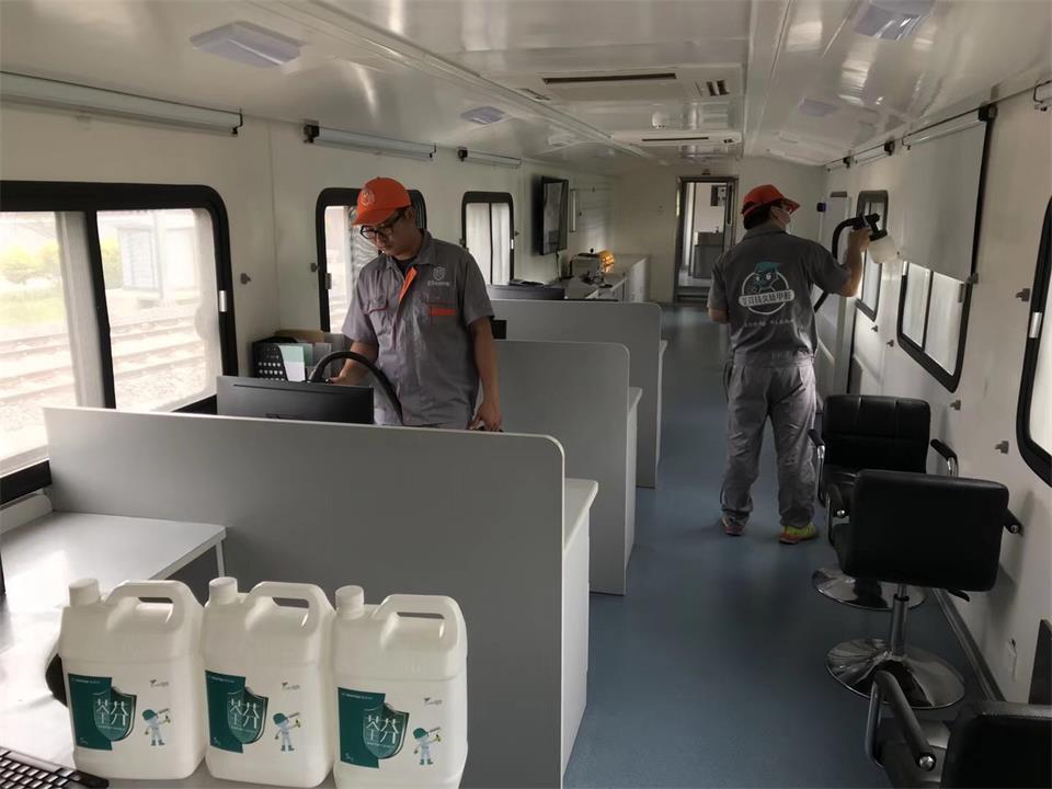 中国中车集团JJC检修列车-鞍山站除甲醛施工案例