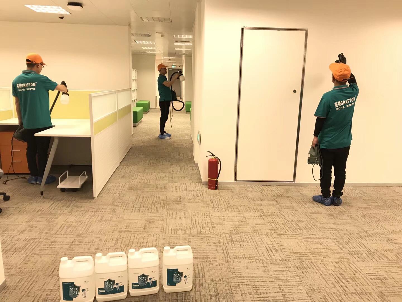 武汉新世界办公楼除甲醛施工